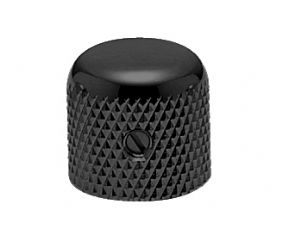 Brass Dome Knob Black